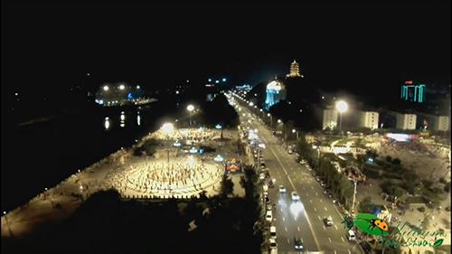 辽源广场夜景视频素材
