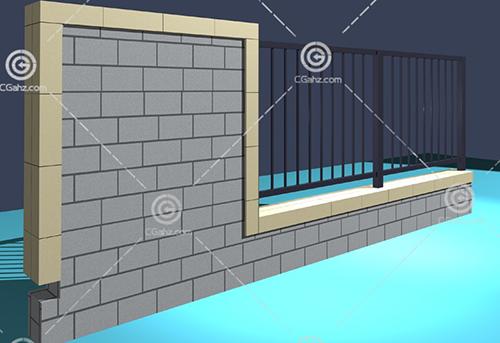 常见的围墙3D模型下载