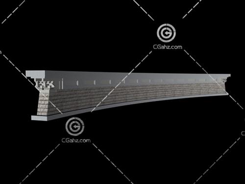 景墙3D模型下载