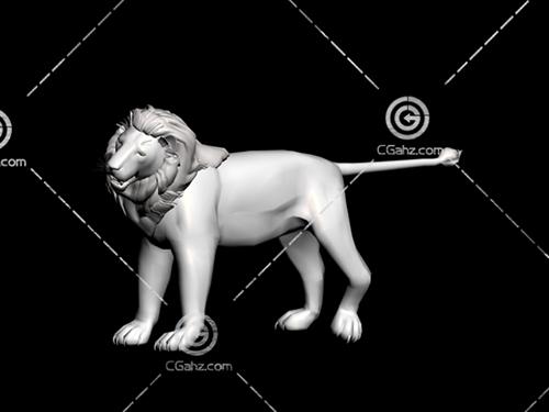 狮子雕塑模型下载