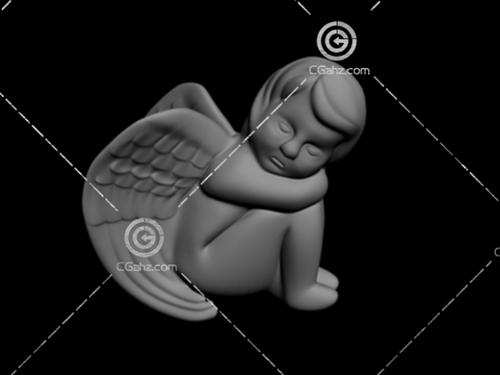 小天使雕塑模型下载