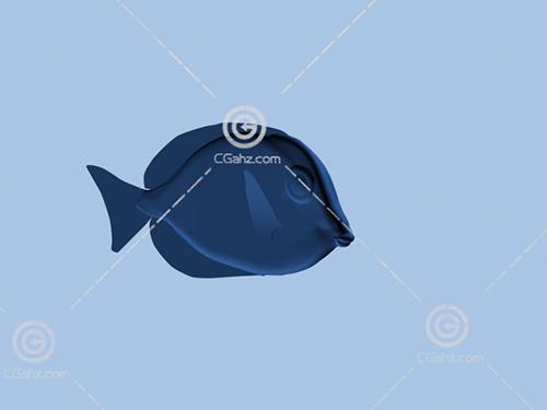 小鱼雕塑模型下载