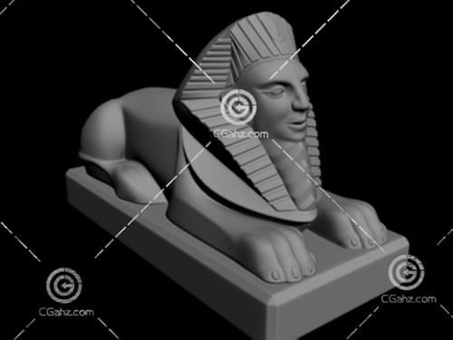 狮身人面雕塑3D模型下载