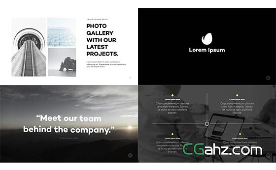 现代企业宣传片,商务主题内容演示AE模板