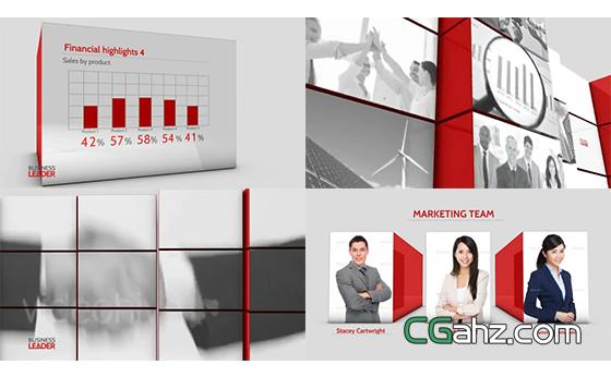时长4分钟的三维立方体企业宣传片AE模板