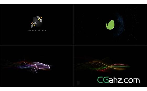 炫酷的光线与帅气的奔跑动物logo揭示AE模板