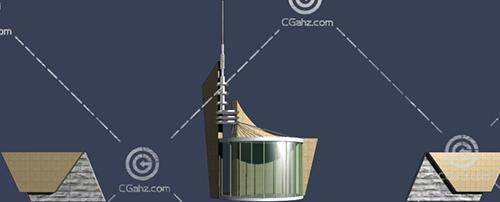 两个大门入口3D模型下载