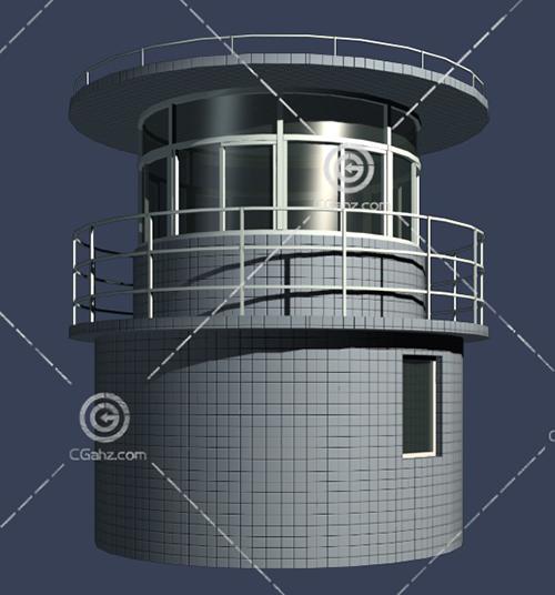 圆形的双层建筑3D模型下载