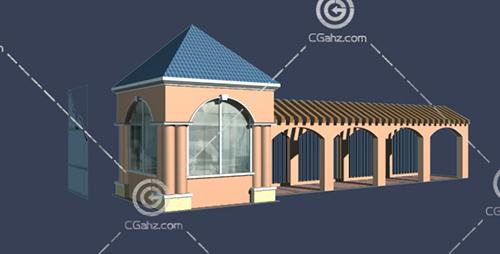 简单的欧式建筑3D模型下载