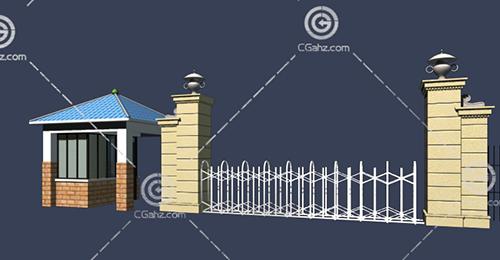 简单的大门入口3D模型下载