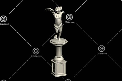 折翼的天使雕塑模型下载