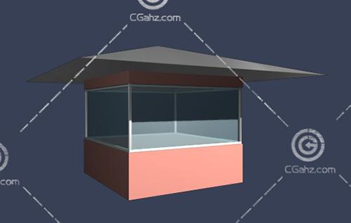 简单的岗亭3D模型下载