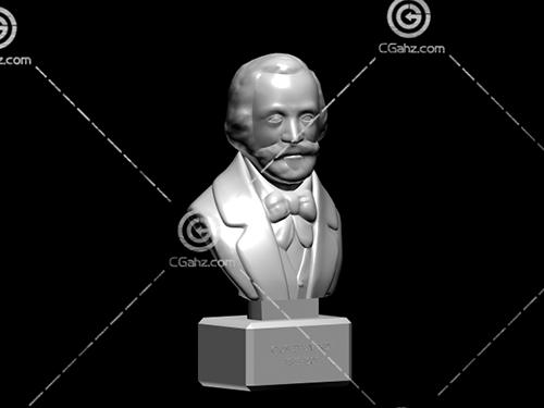 人物头像雕塑模型下载