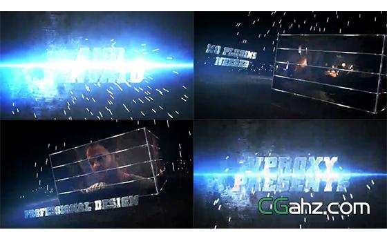 火花迸射特效的震撼电影预告片AE模板