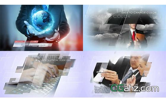 干净明亮的企业商务内容演示AE模板