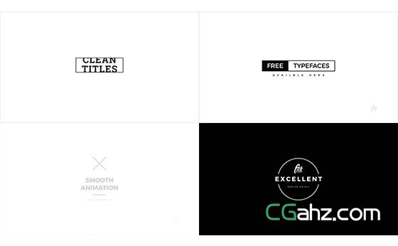 黑白风专业化标题+字幕条文字动画集AE模板