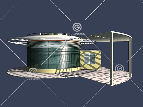 大气的入口岗亭3D模型下载