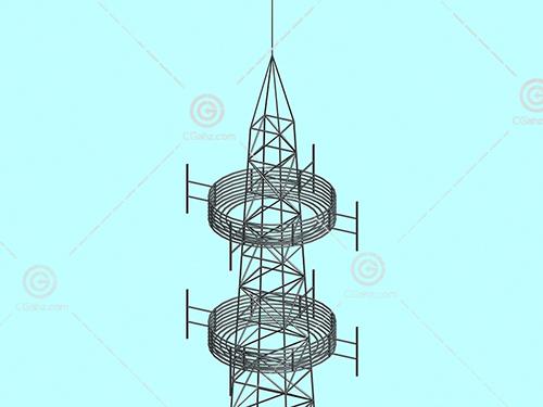 发射塔3D模型下载