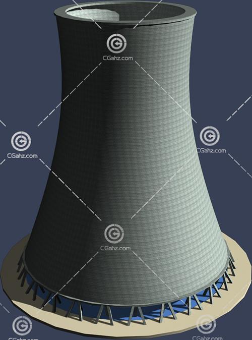 大烟囱3D模型下载