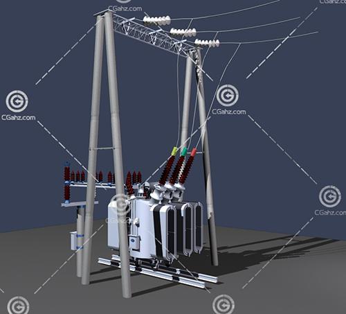 高压电器3D模型下载
