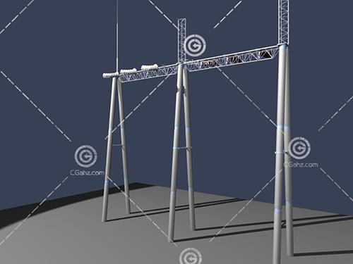 高压电器设备3D模型下载