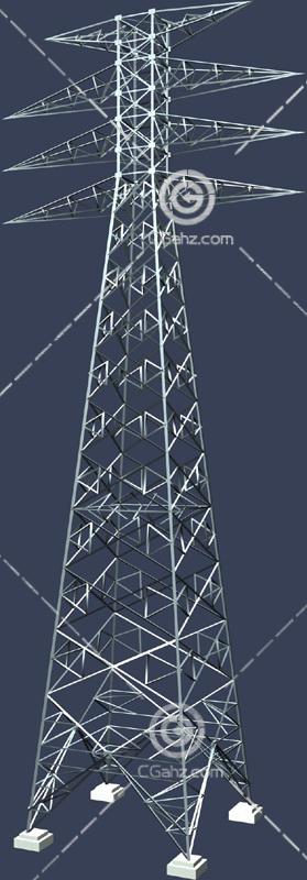 高压铁塔3D模型下载