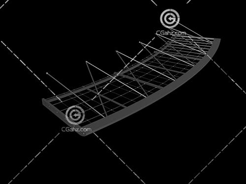 圆弧形的雨蓬3D模型下载