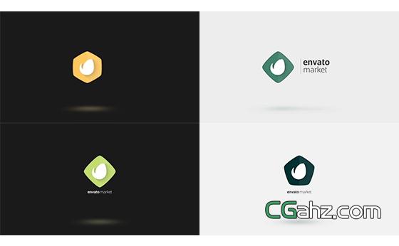 极简风企业标志开场小动画AE模板