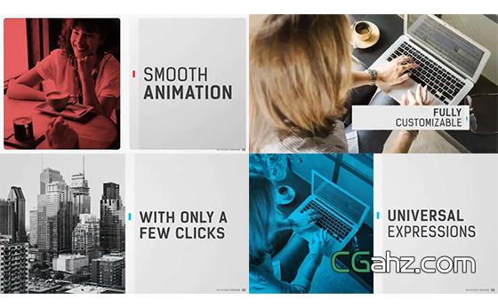 可适应多种场合的多用途现代风格宣传片AE模板