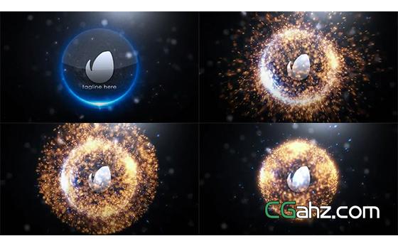 炫酷的球体粒子爆炸标志开场特效AE模板
