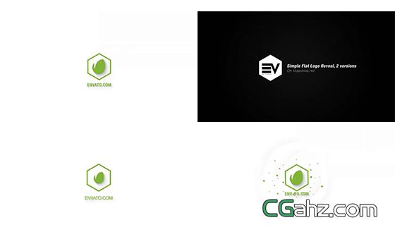简单又快速的扁平化标志演绎小动画AE模板