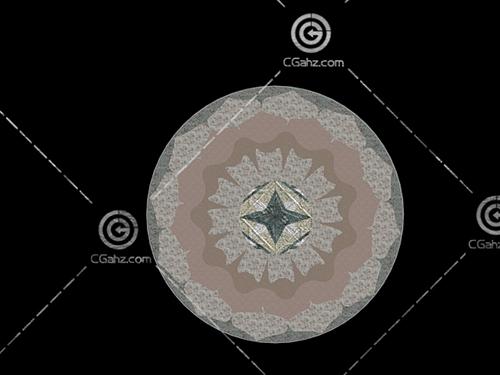 带有花纹的圆形铺地3D模型下载