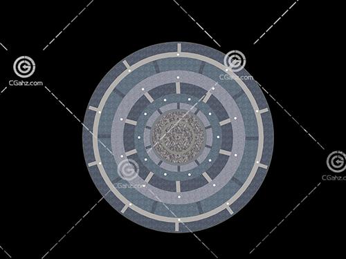 圆形铺地3D模型下载