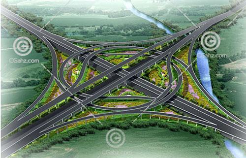 互通式立交桥3D模型下载