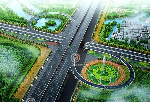 环形高架桥3D模型下载