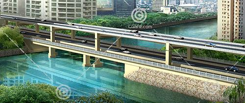 双层桥3D模型下载