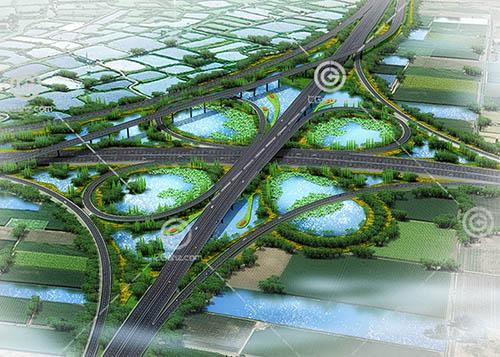 复杂的路面高架桥3D模型下载