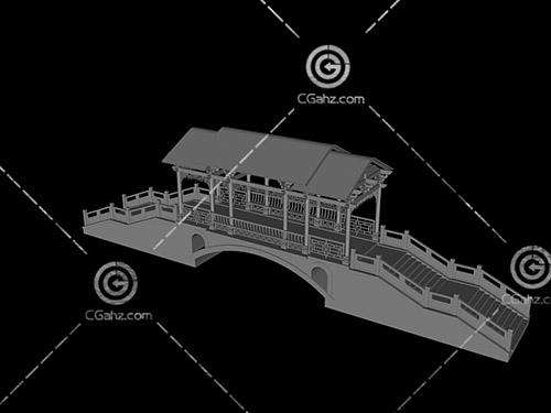 廊桥3D模型下载