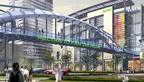 商场天桥3D模型下载