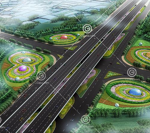 双层路面桥3D模型下载