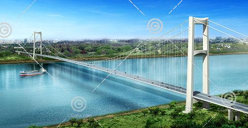 跨江大桥模型下载