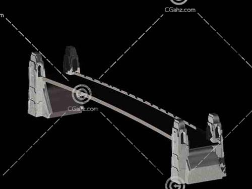 没有护栏的小桥3D模型下载