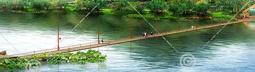 景區小木橋3D模型下載