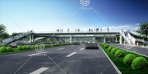 人行天桥3D模型下载