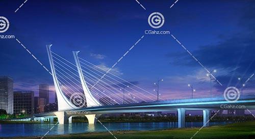 常见的过江桥3D模型下载