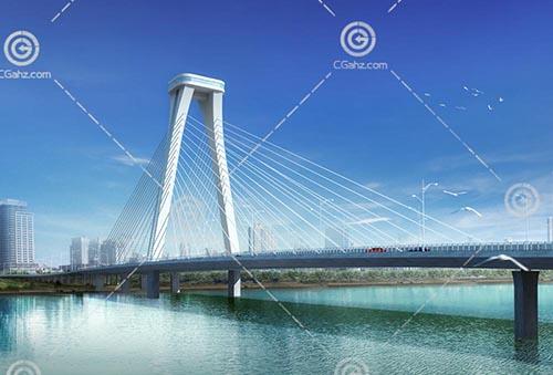过江桥模型下载