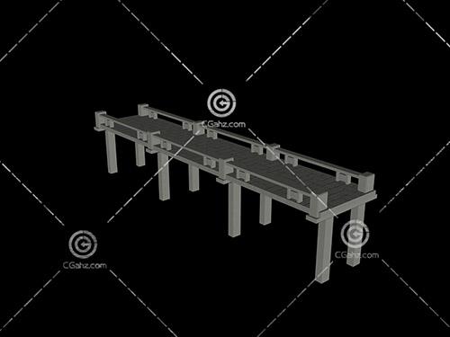平石桥3D模型下载