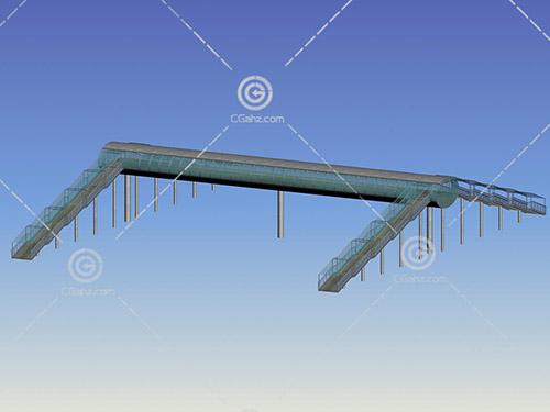 常见的过街天桥3D模型下载