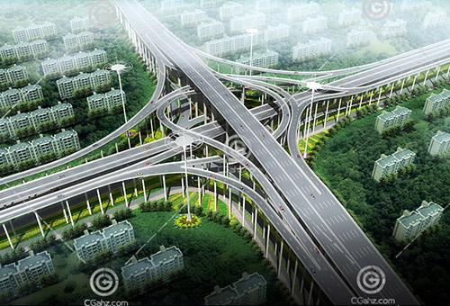 路面立交桥3D模型下载