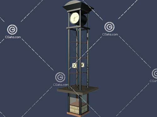空心的钟楼3D模型下载